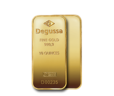 10 oz Gold Degussa Bar .9999