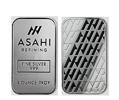 1 oz Silver Asahi Bar.999