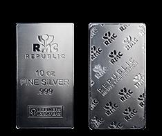 RMC 10 oz Silver Bars