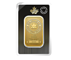 1 oz Gold RCM Bar .9999