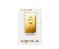 1 oz Gold Degussa Bar .9999