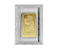 10 oz Gold PAMP Suisse Bar .9999