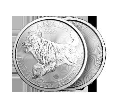 2018 1 oz Silver Wolf - RCM Predator Series Coin .9999