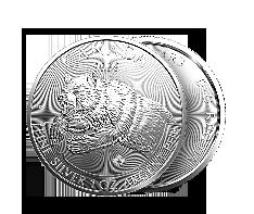2019 1 oz Silver Grizzly - RCM Predator Series Coin .9999