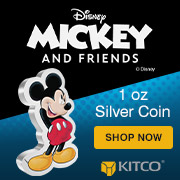 1 oz Silver Mickey Mouse Shaped Coin