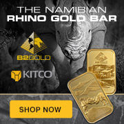 1 oz Gold Rhino Bar