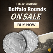 1 oz Silver GSM Buffalo Rounds