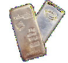 1 kilo Silver Bar - Various Mints