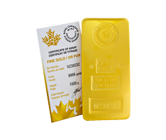 1 kg Gold Royal Canadian Mint Bar .9999