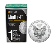 2020 1 oz Silver American Eagle Tube (20 coins) - MintFirst