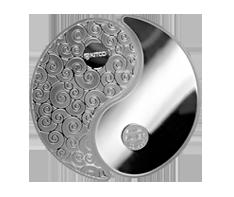 2 oz Pure Silver Yin Yang Round