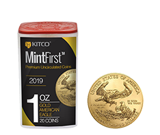 2019 MintFirst 1 oz Gold American Eagle (20 coins) .9167