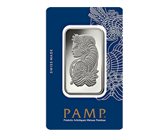 1 oz PAMP Suisse Lady Fortuna Rhodium Bar .999