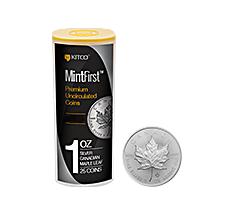 2018 MintFirst 1 oz Silver Maple Leaf (25 Coins) .9999
