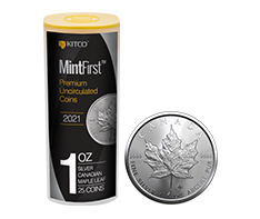2021 1 oz Silver Maple Leaf Tube (25 coins) - MintFirst�