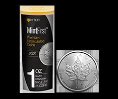 2021 1 oz Silver Maple Leaf Tube (25 coins) - MintFirst