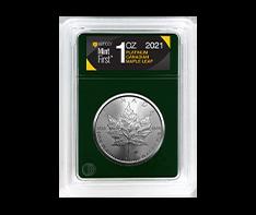 2021 1 oz Platinum Maple Leaf Coins MintFirst� (Single Coin)