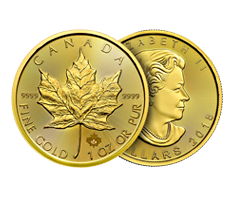 1 oz Gold Canadian Maple Leaf Coin .9999