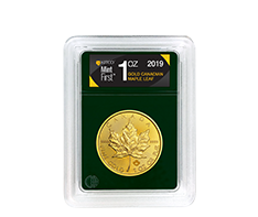 2019 MintFirst 1 oz Gold Maple Leaf (Single Coin)