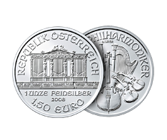 1 oz Silver Austrian Philharmonic Coin .999
