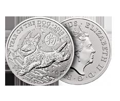 2018 1 oz Silver British Lunar Dog Coin