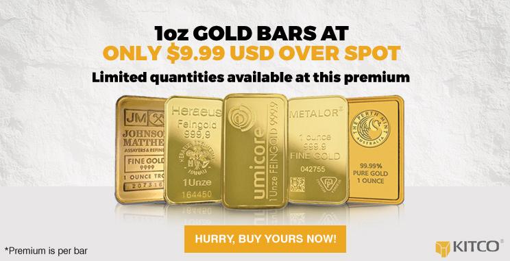 1 oz Gold Bar 0.9999