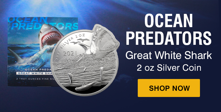 2 oz Great White Shark coin
