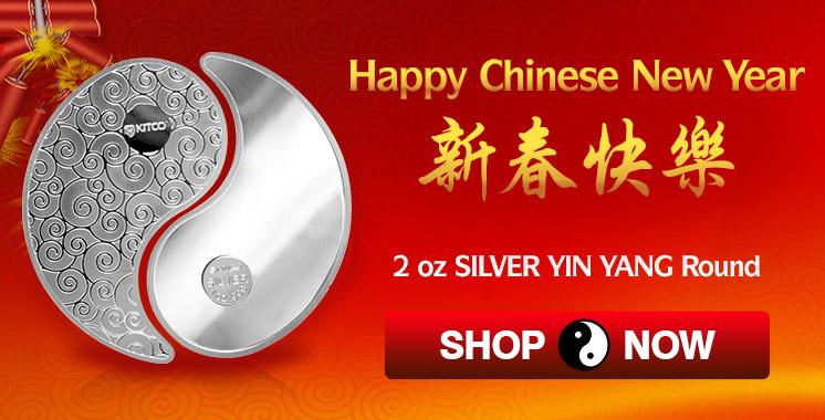 Silver Yin Yang - Chinese New Year