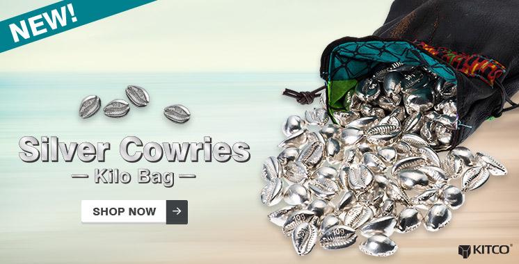 10 g Silver Money Cowries .999 � Kilo Bag