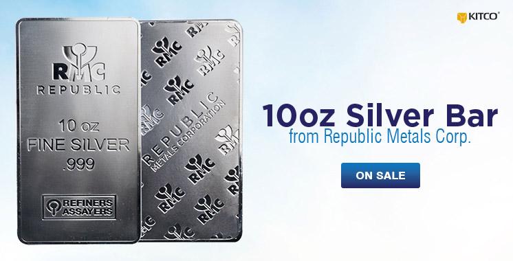10 oz Silver RMC Bar