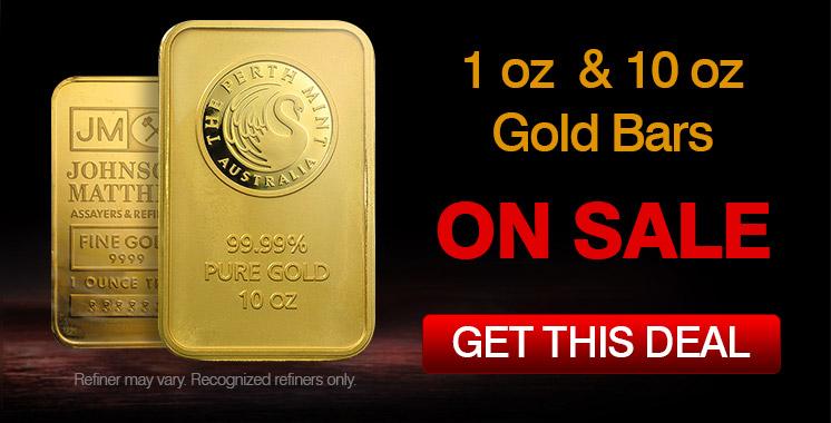1oz & 10oz Gold Bars Promo