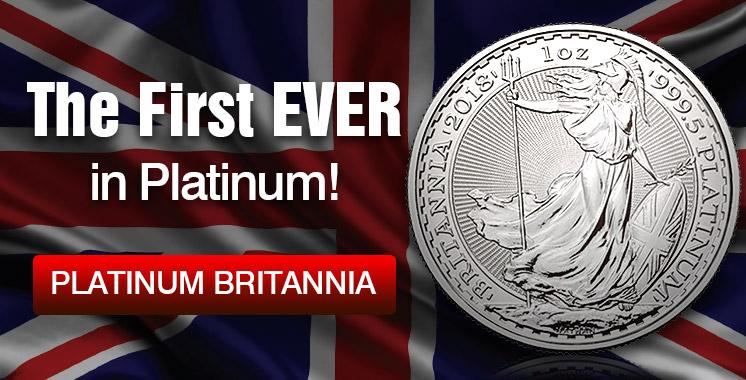 2018 1 oz British Platinum Britannia