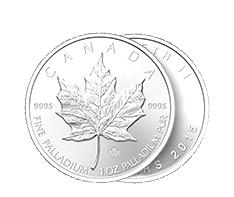 1 oz Palladium Canadian Maple Leaf Coin .9995