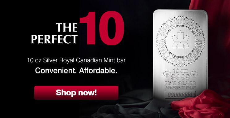 10oz Silver Royal Canadian Mint Bar