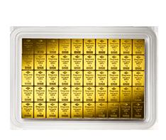 50 x 1 gram Gold Degussa CombiBars