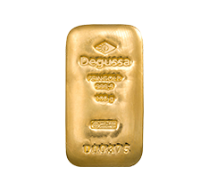 100 g Gold Degussa Cast Bar .9999