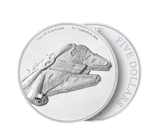 2 oz Silver Coin .999 - Star Wars - Millennium Falcon