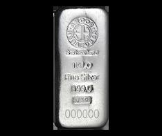 1 kg Silver Bar - Argor Heraeus