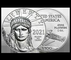 2021 1 oz Platinum American Eagle Coin