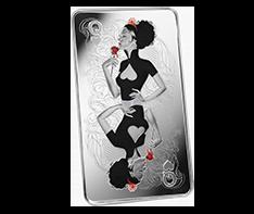10 oz Silver Bar .999 - Queen of Hearts