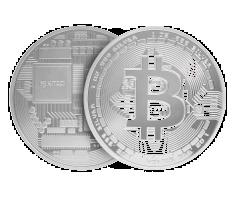 1 oz Silver Round .999 - Bitcoin