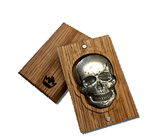 2 oz Silver Bar - 3D Skull - Antique Finish