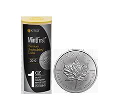 2019 MintFirst 1 oz Silver Maple Leaf (25 Coins) .9999