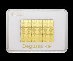 50 x 1g Gold Degussa CombiBar .9999