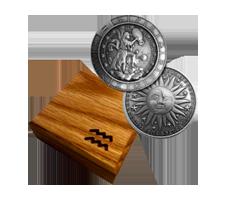 1 oz Silver Round - Zodiac - Aquarius