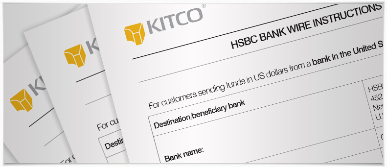 Kitco's bank wire information