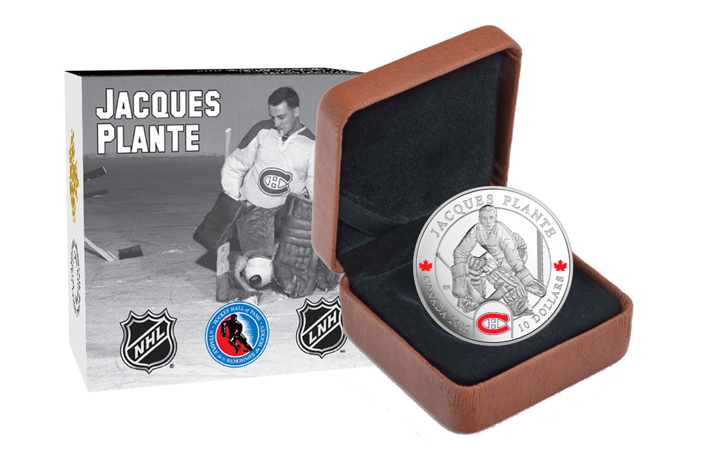1/2 oz  Silver NHL® Goalies Coin: Jacques Plante .9999, image 3