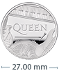 1/2 oz Silver Proof Coin Music Legends Queen (2020)
