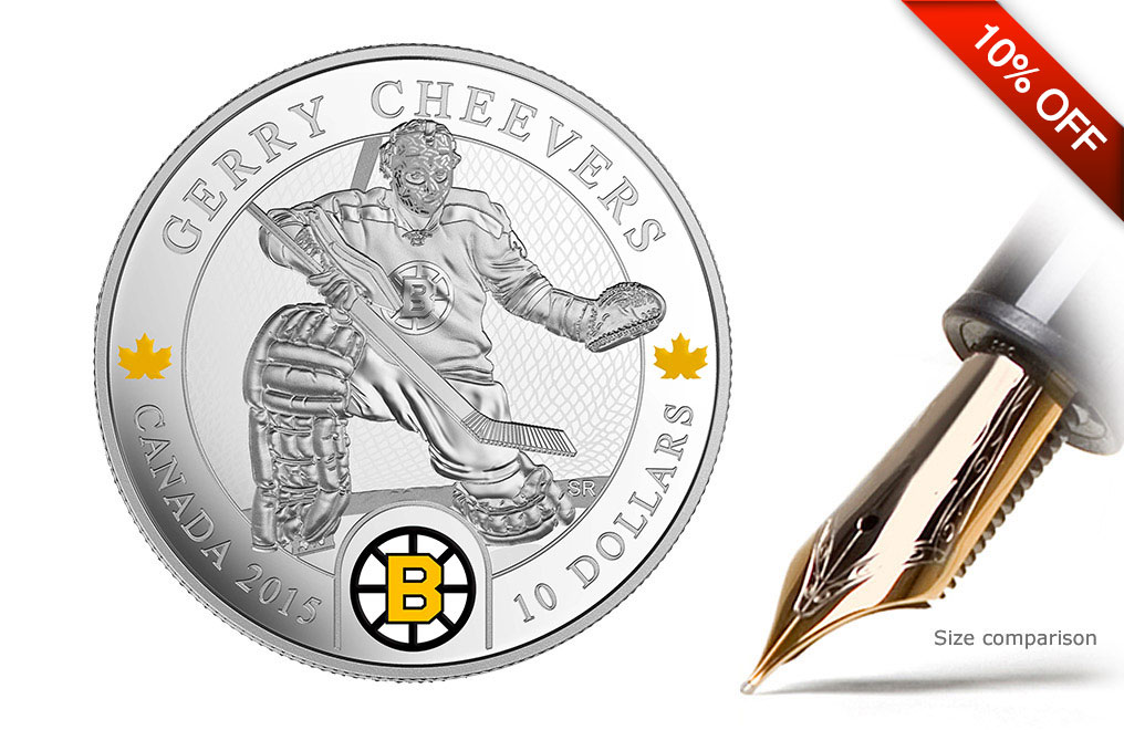 Buy 1/2 oz Silver NHL Goalie Coins: Gerry Cheevers, image 0