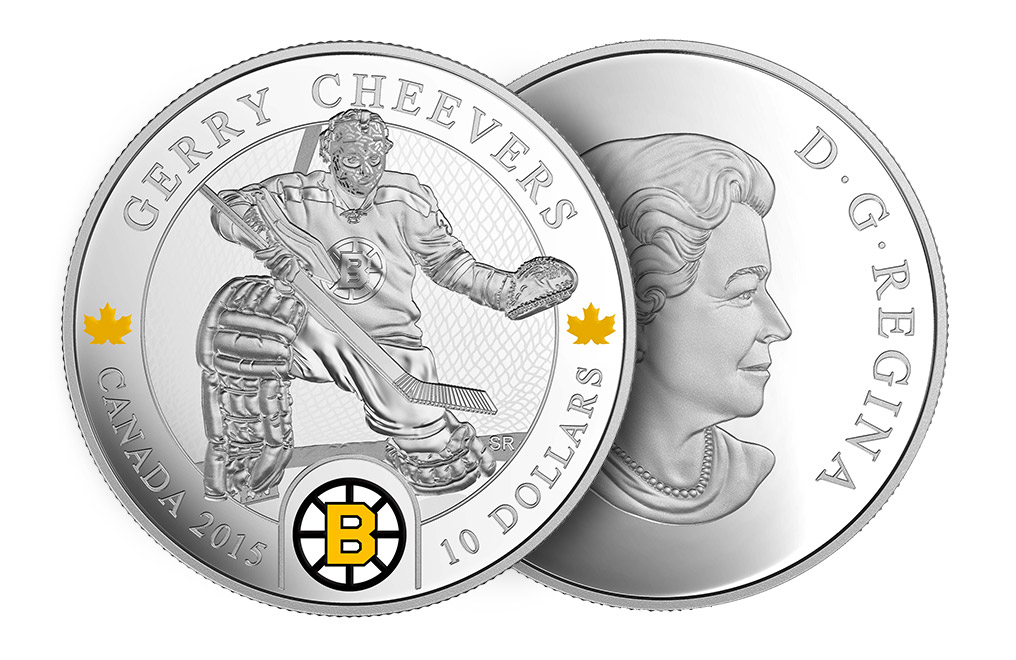 Buy 1/2 oz Silver NHL Goalie Coins: Gerry Cheevers, image 2